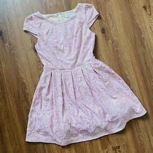 Honey and Rosie Tea Dress Size 3 Small Pink Lace